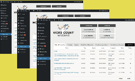 Word Count Wizard Screens for Wordpress
